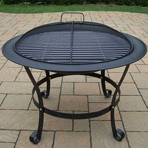 Cast Iron Inch Round Fire Pit Null - 30 inch fire pit table