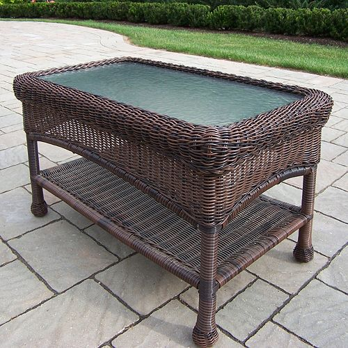 Resin Wicker Outdoor Coffee Table