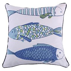 Catalina Fish Print Throw Pillow