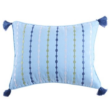 Catalina Embroidered Tassel Throw Pillow