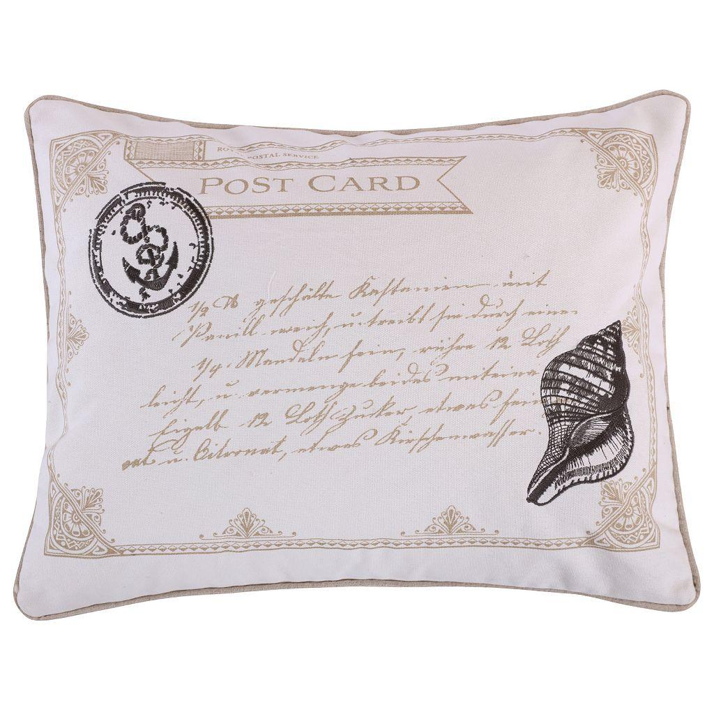 Newhaven Postcard Throw Pillow