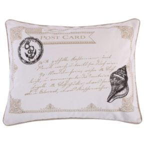 Newhaven Postcard Throw Pillow
