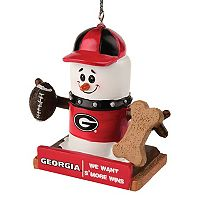 Forever Collectibles Georgia Bulldogs S'more Snowman Christmas Ornament