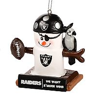 Forever Collectibles Oakland Raiders S'more Snowman Christmas Ornament