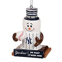 Forever Collectibles New York Yankees S'more Snowman Christmas Ornament