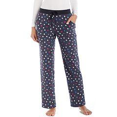 Women's Cuddl Duds Color Avalanche Microfleece Lounge Pants