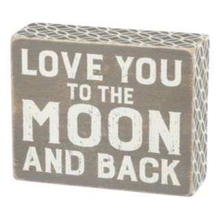 """To The Moon and Back"" Wood Wall Art"