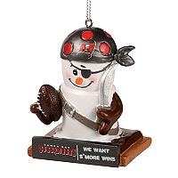 Forever Collectibles Tampa Bay Buccaneers S'more Snowman Christmas Ornament