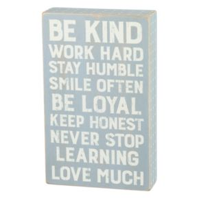 """Be Kind Work Hard"" Wood Wall Art"