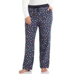 Plus Size Cuddl Duds Color Avalanche Microfleece Lounge Pants