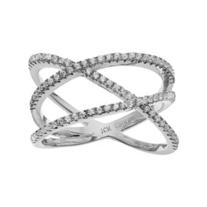 Silver Tone Cubic Zirconia Highway Ring