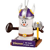 Forever Collectibles Minnesota Vikings S'more Snowman Christmas Ornament
