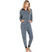 Women's Cuddl Duds Pajamas: Star Gazer 1-Piece Microfleece Pajamas