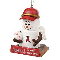 Forever Collectibles Los Angeles Angels S'more Snowman Christmas Ornament