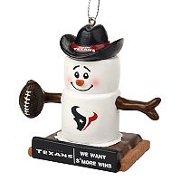 Forever Collectibles Houston Texans S'more Snowman Christmas Ornament