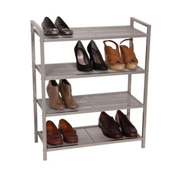 Household Essentials 4 Tier Mesh Shoe Rack
