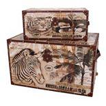 Household Essentials 2-piece Animal Kingdom Trunk Set