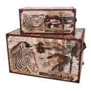 Household Essentials 2 pc Animal Kingdom Trunk Set
