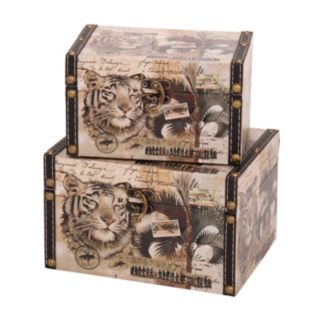 Household Essentials 2-piece Animal Kingdom Storage Box Set