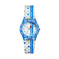 Red Balloon Kids' Time Teacher Striped & Polka Dot Watch