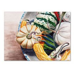 Trademark Fine Art Autumn Gourds Canvas Wall Art