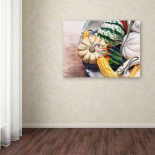 Trademark Fine Art Autumn Gourds Canvas Wall Art