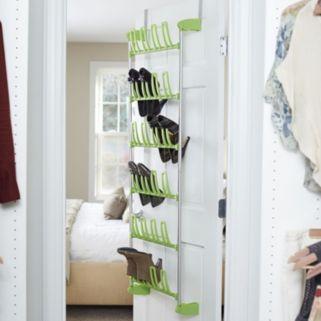 Household Essentials 12-Pair Over The Door Shoe Rack