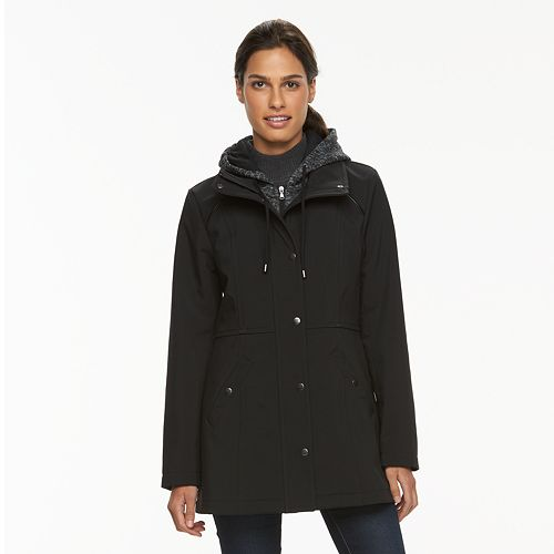 Women's Sebby Collection Hooded Soft Shell Jacket