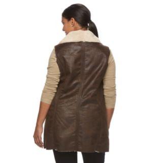 Plus Size Weathercast Faux-Shearling Vest