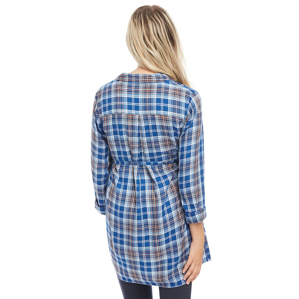 Maternity Oh Baby by Motherhood™ Plaid Tunic