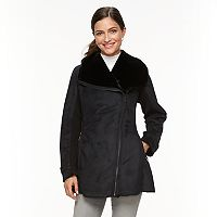 Women's Weathercast Asymmetrical Faux-Shearling Jacket