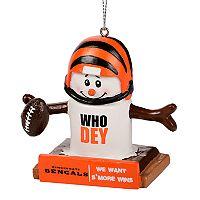 Forever Collectibles Cincinnati Bengals S'more Snowman Christmas Ornament