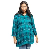 Plus Size Maternity Oh Baby by Motherhood™ Plaid Tunic