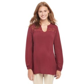 Maternity Oh Baby by Motherhood™ Lace Peasant Top