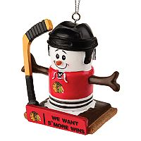 Forever Collectibles Chicago Blackhawks S'mores Snowman Christmas Ornament
