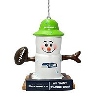 Forever Collectibles Seattle Seahawks S'more Snowman Christmas Ornament
