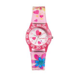 Red Balloon Kids' Time Teacher Heart & Flower Watch