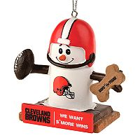 Forever Collectibles Cleveland Browns S'more Snowman Christmas Ornament
