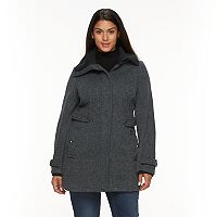 Plus Size Weathercast Hooded Fleece Walker Jacket