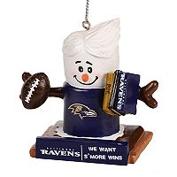 Forever Collectibles Baltimore Ravens S'mores Snowman Christmas Ornament