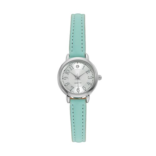 Women's Diamond Mint Green Watch