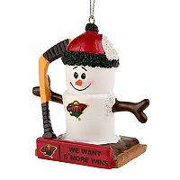 Forever Collectibles Minnesota Wild S'mores Snowman Christmas Ornament