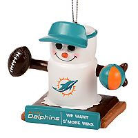 Forever Collectibles Miami Dolphins S'more Snowman Christmas Ornament