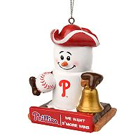 Forever Collectibles Philadelphia Phillies S'more Snowman Christmas Ornament