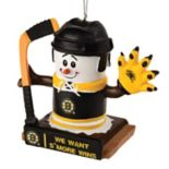 Forever Collectibles Boston Bruins S'mores Snowman Christmas Ornament