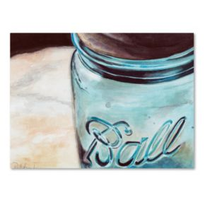 Trademark Fine Art Ball Jar Canvas Wall Art