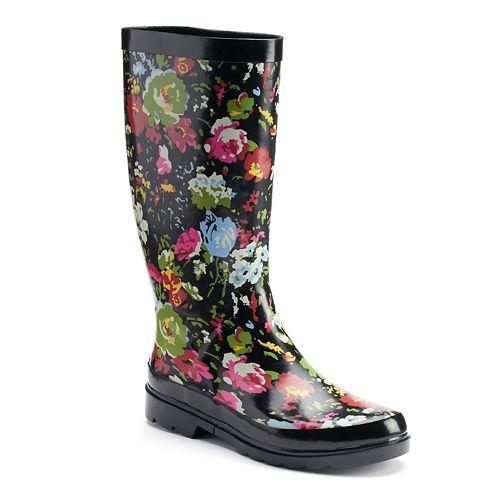 sugar Raffle Women's Waterproof Rain Boots
