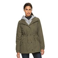 Women's Sebby Collection Hooded Fleece Bib Anorak Parka