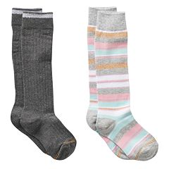 Girls GOLDTOE 2-pk. Striped Knee-High Socks