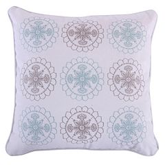Spruce Spa Embroidered Throw Pillow